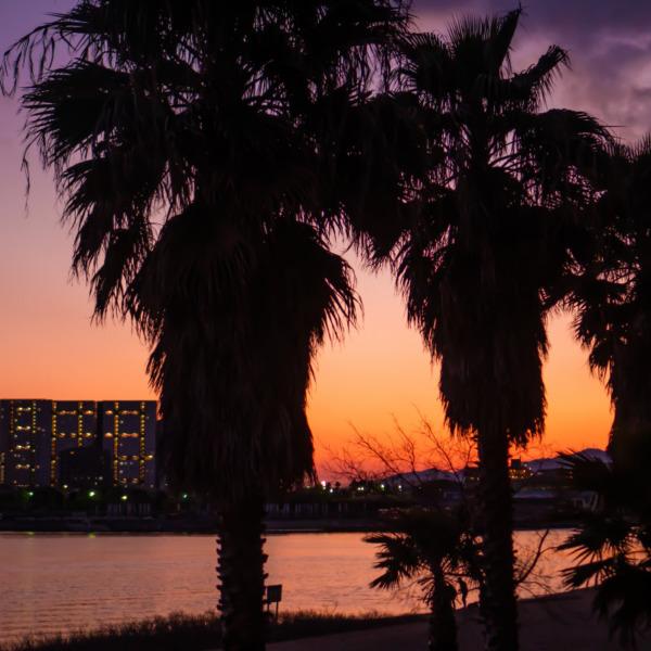 西宮 御前浜の夕陽