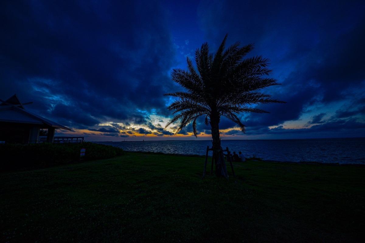 波の上ビーチ夕景