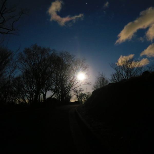 満月の景色