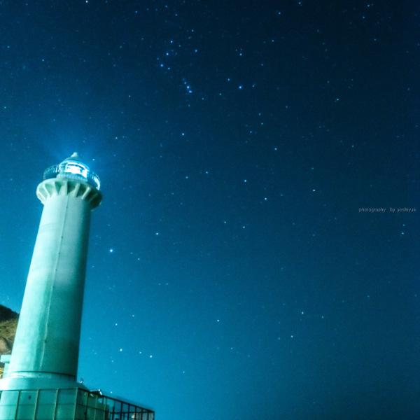野間灯台とオリオン