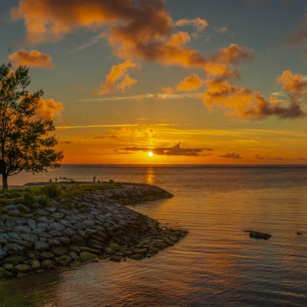 沖縄でみた夕陽