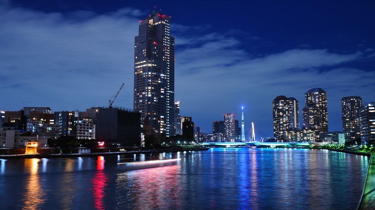 勝鬨橋夜景2020✨東京スカイツリーコラボ🆒