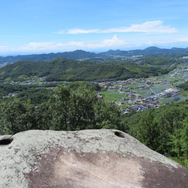 神宿る里山・杉谷の杉山の旗穴