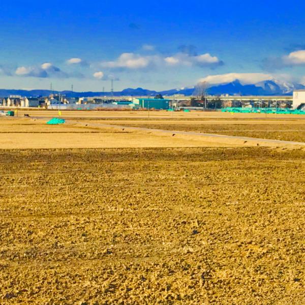 奥羽山脈を臨む仙台平野