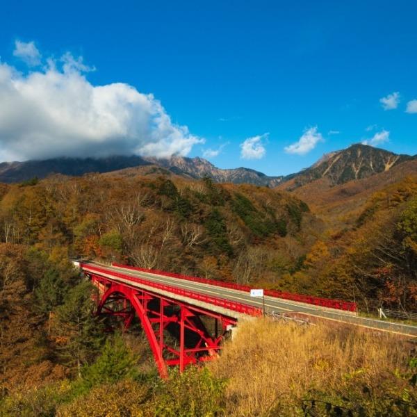 川俣川渓谷東沢大橋の紅葉
