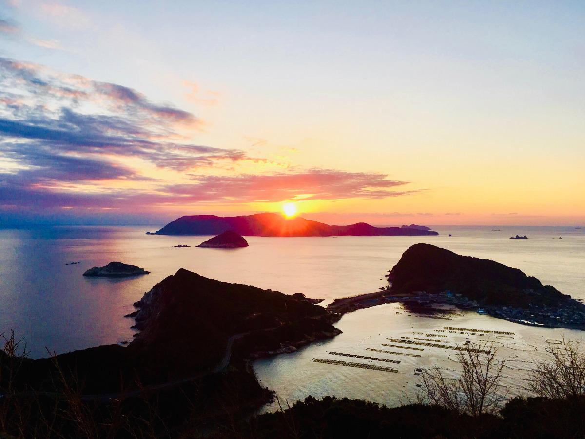 大晦日の夕陽 (高知県)