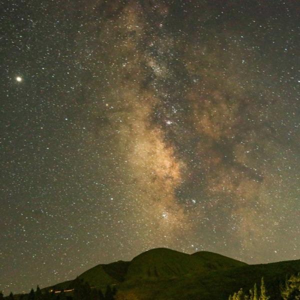 熊本のキャンプ場で天の川撮影