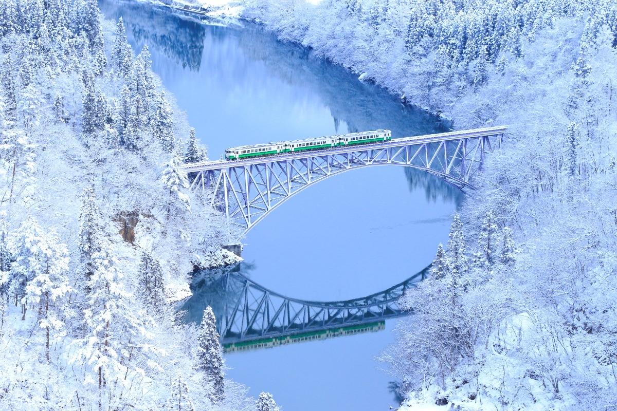 冬の只見線