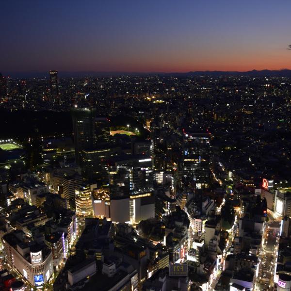日本初の高層建物からの夕景