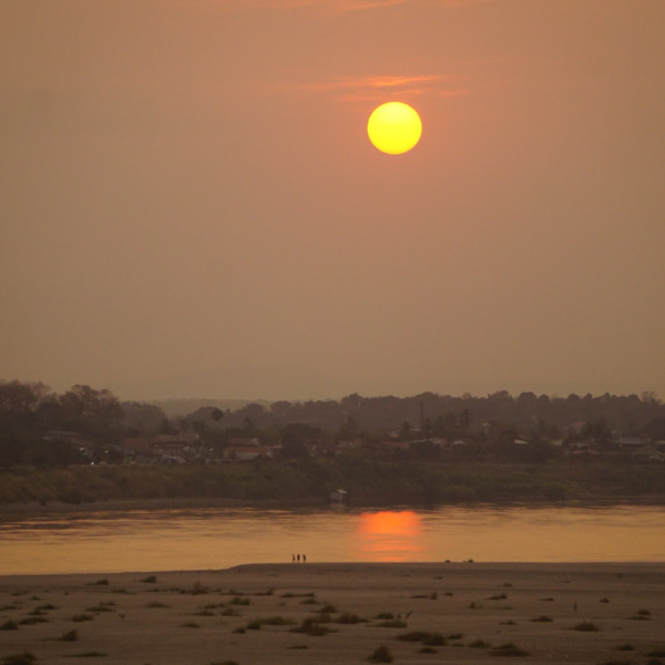 Sunset in Vientiane along the Mekong River