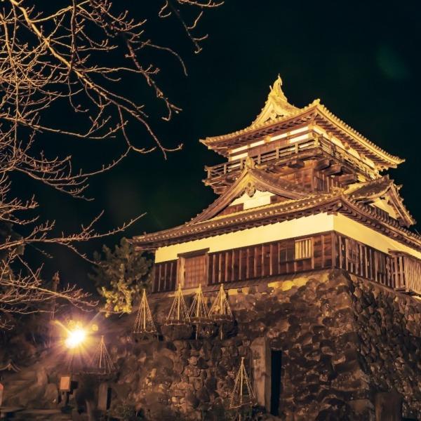 日本一小さなお城・丸岡城のライトアップ