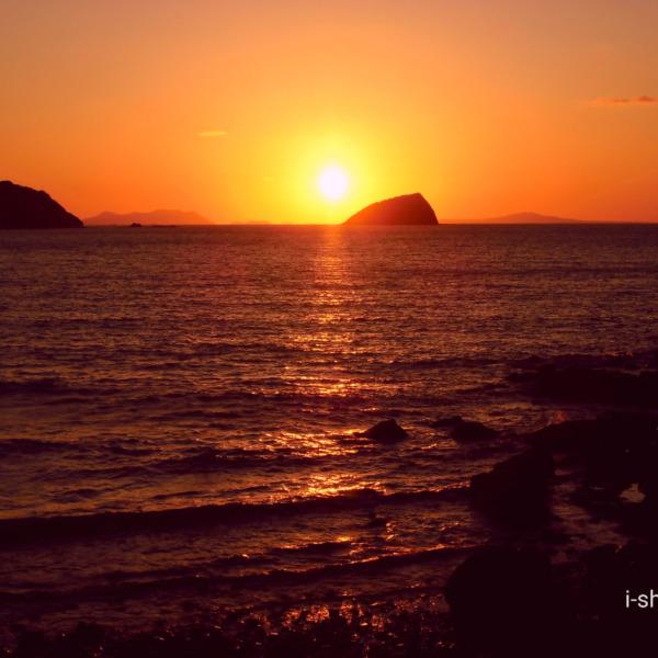 東シナ海へ沈む夕日