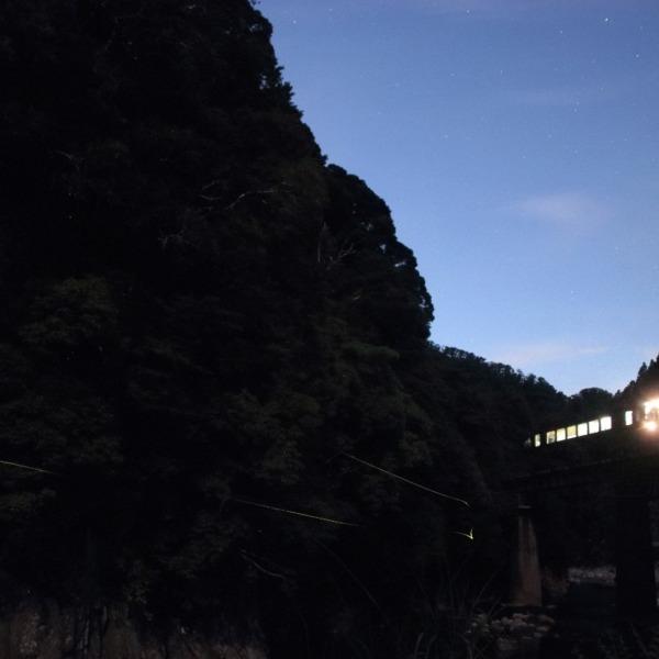 美杉の夜空 名松線とホタル