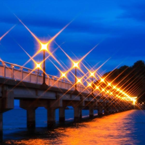 竹島ライトアップ