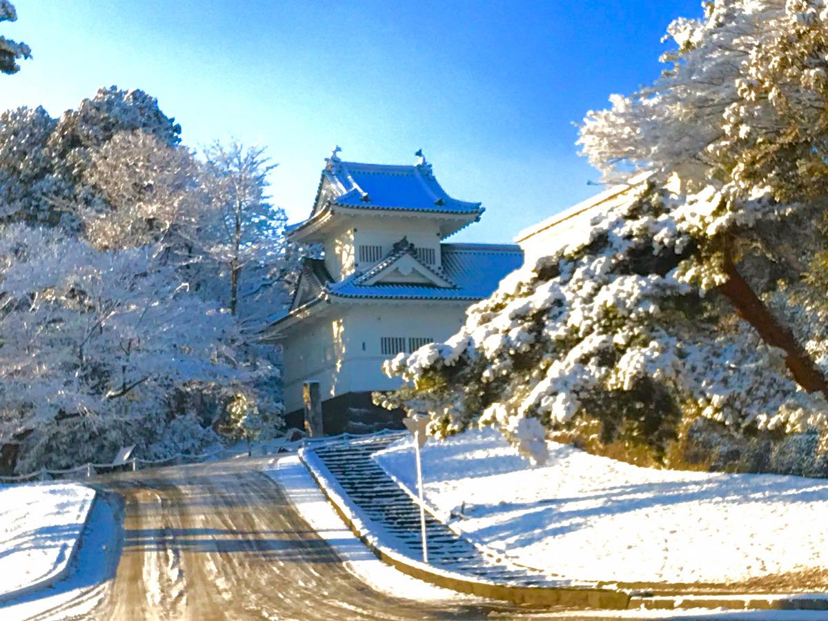 雪の青葉城