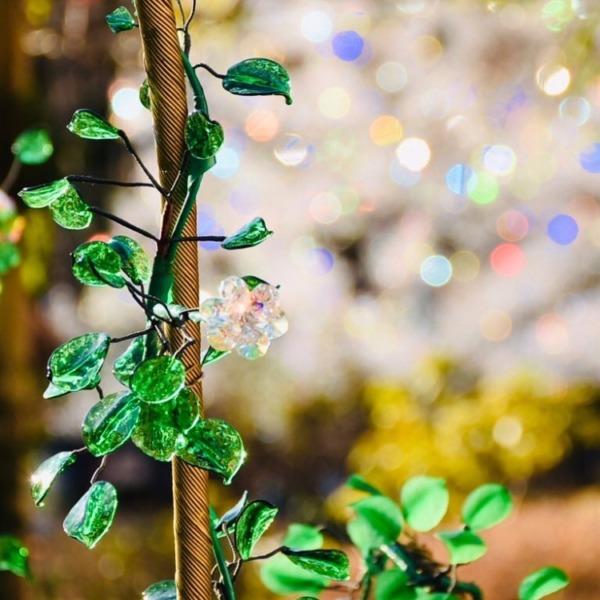 箱根ガラスの森美術館 ガラスの花1