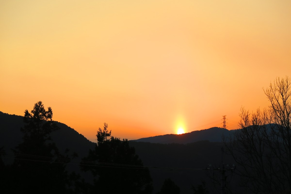 夕陽のキャンドル