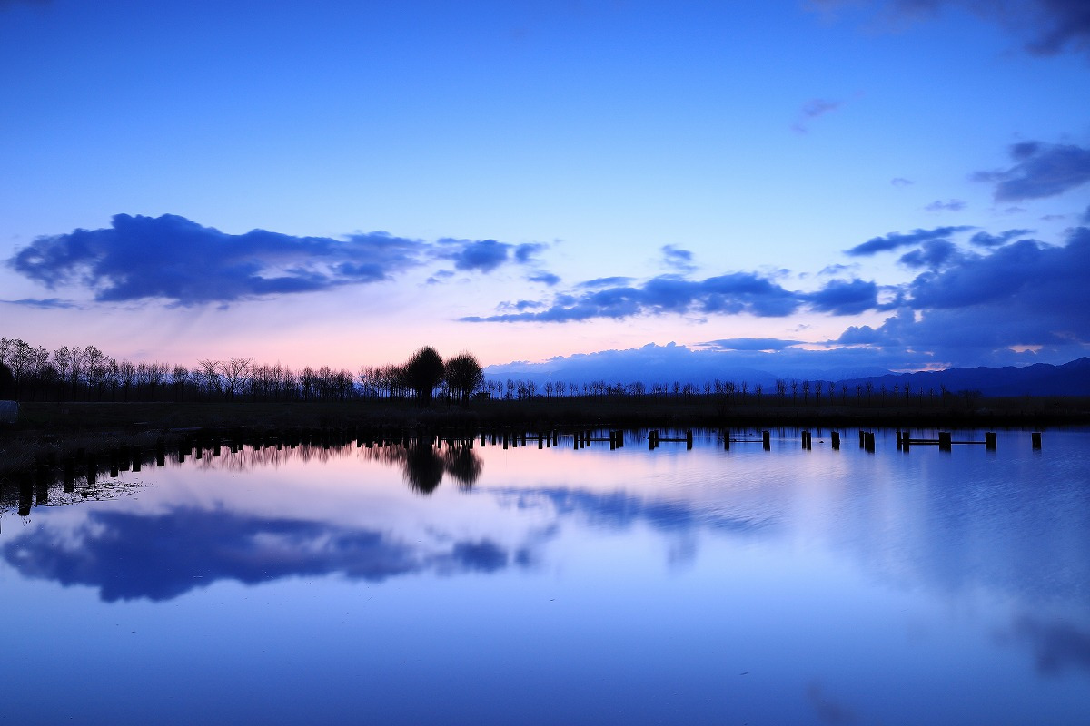福島潟の夜明け