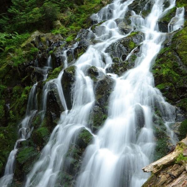 焼山の滝(雄滝) 縦型写真