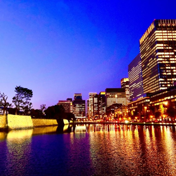皇居の夜景