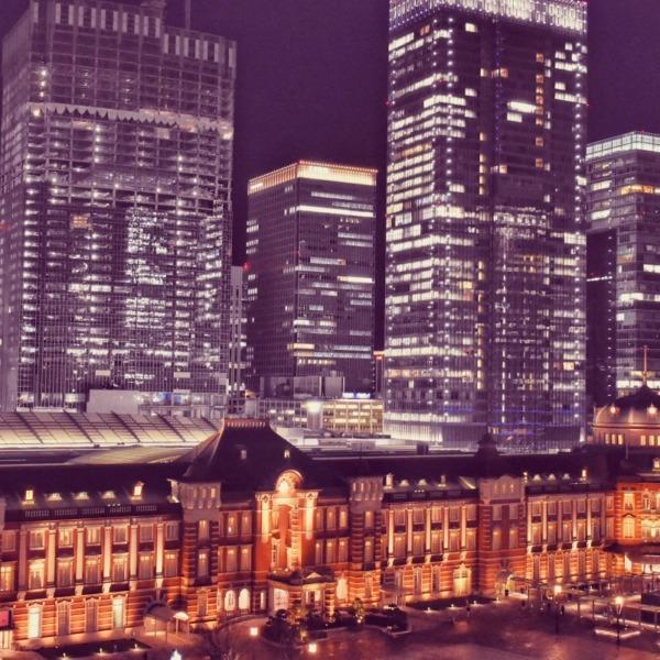 夜の東京駅 赤レンガ駅舎