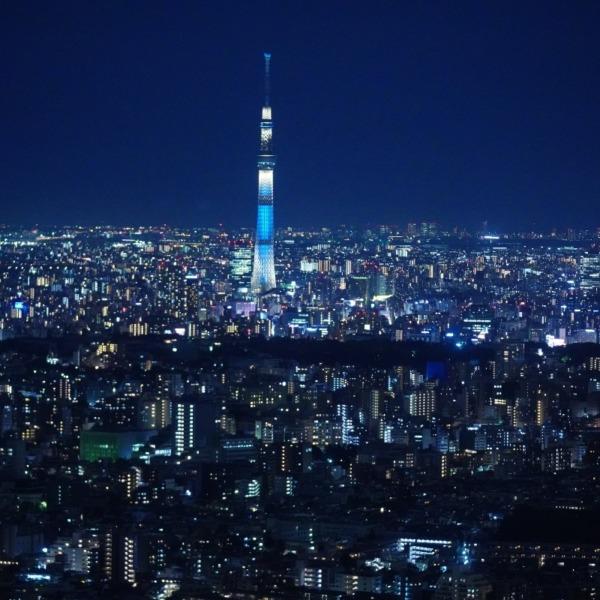 サンシャイン60からの夜景:東京スカイツリー編✨