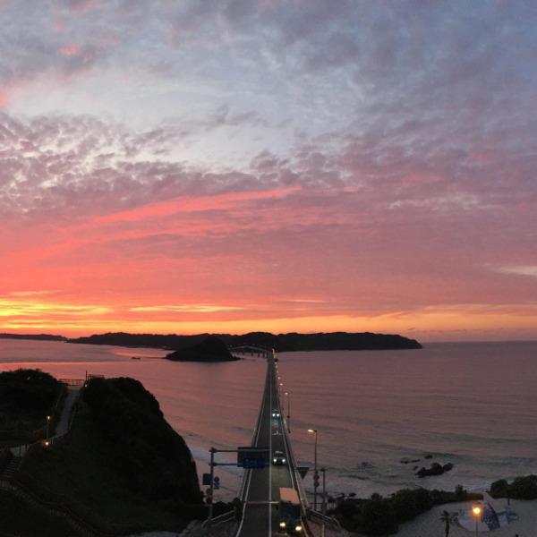 角島の夕暮れ
