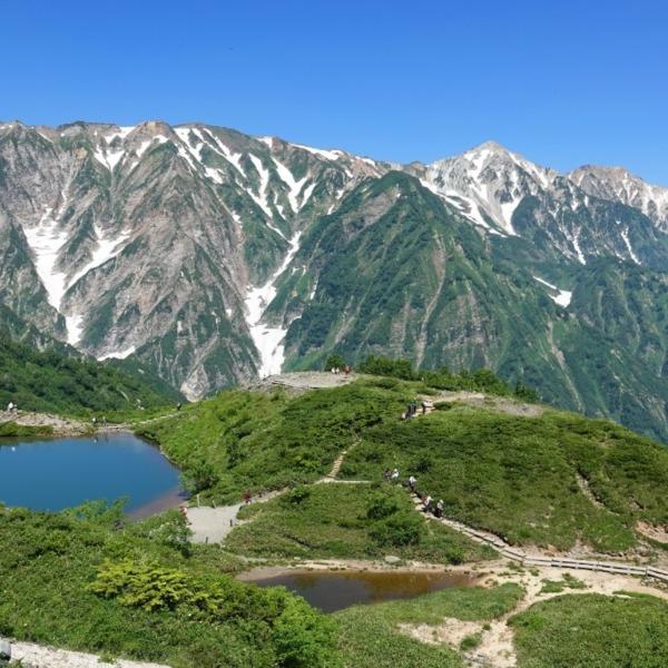 八方池と白馬三山