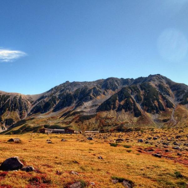 紅葉の立山  雄山