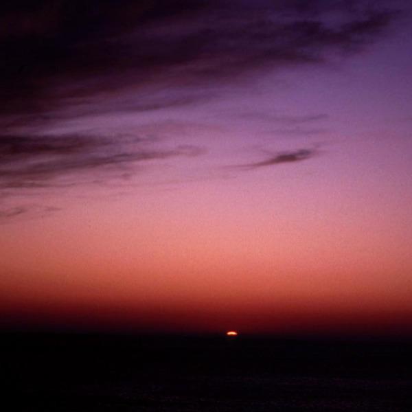 夕日と空のグラデーション 礼文島にて
