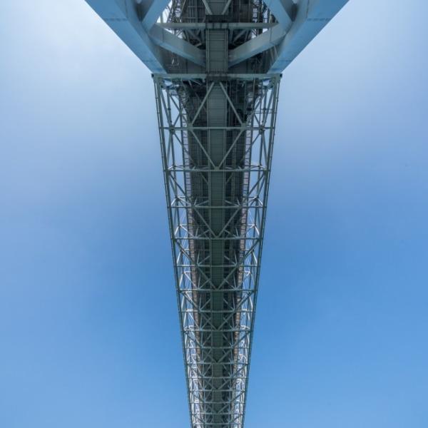 しまなみ海道 因島大橋を下から見上げてみた
