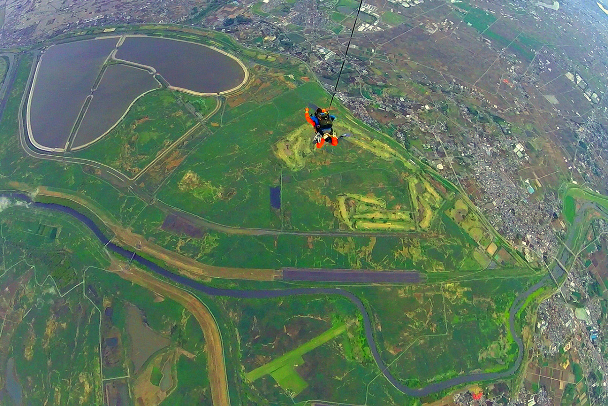 上空4000mからの絶景