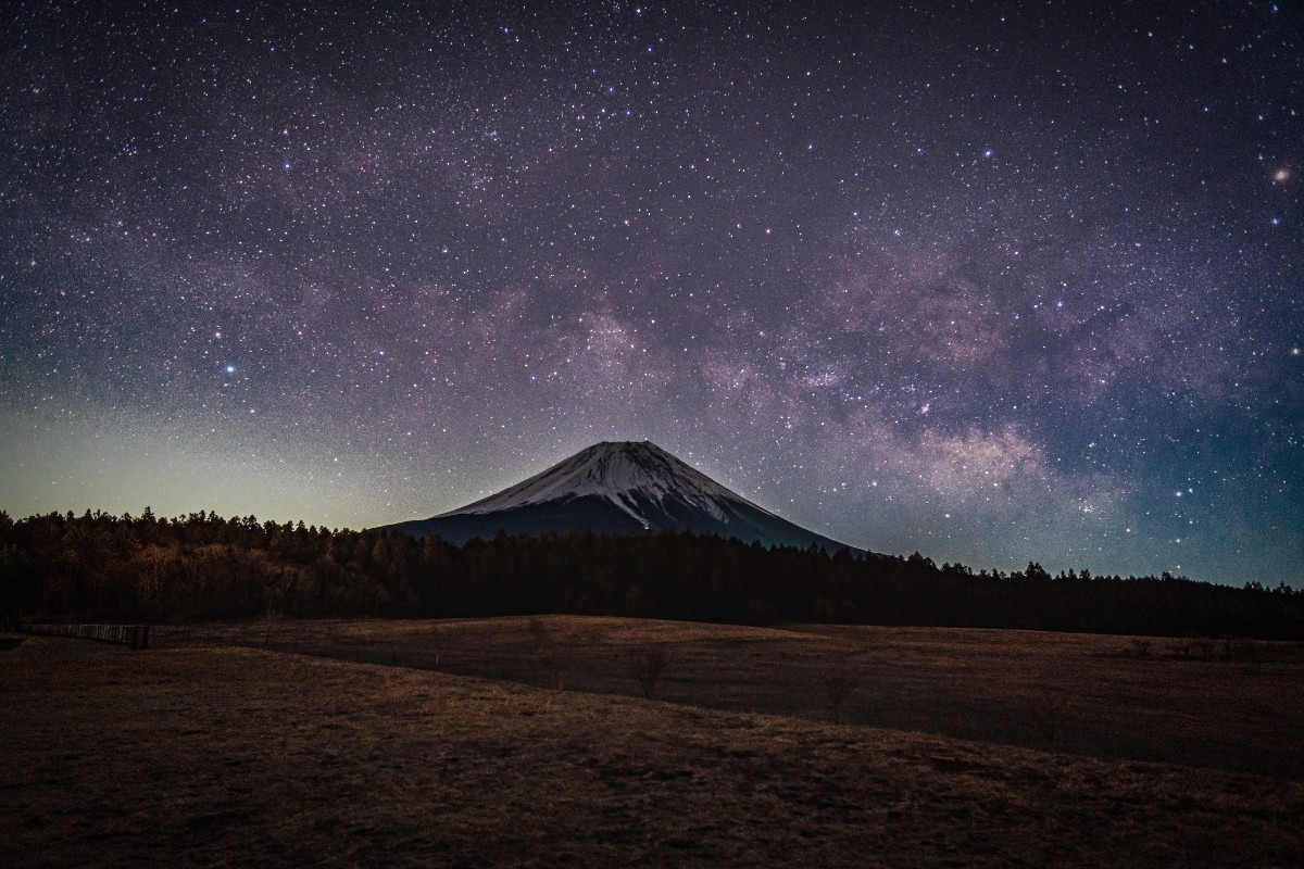 2021初の富士と天の川撮影(朝霧高原)