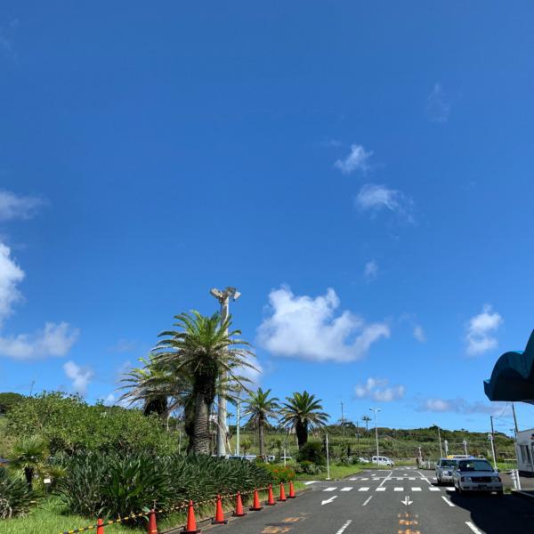 夏の八丈島空港にて