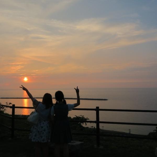 新潟景勝百選1位獲得地の夕陽:出雲崎町(実家)💖