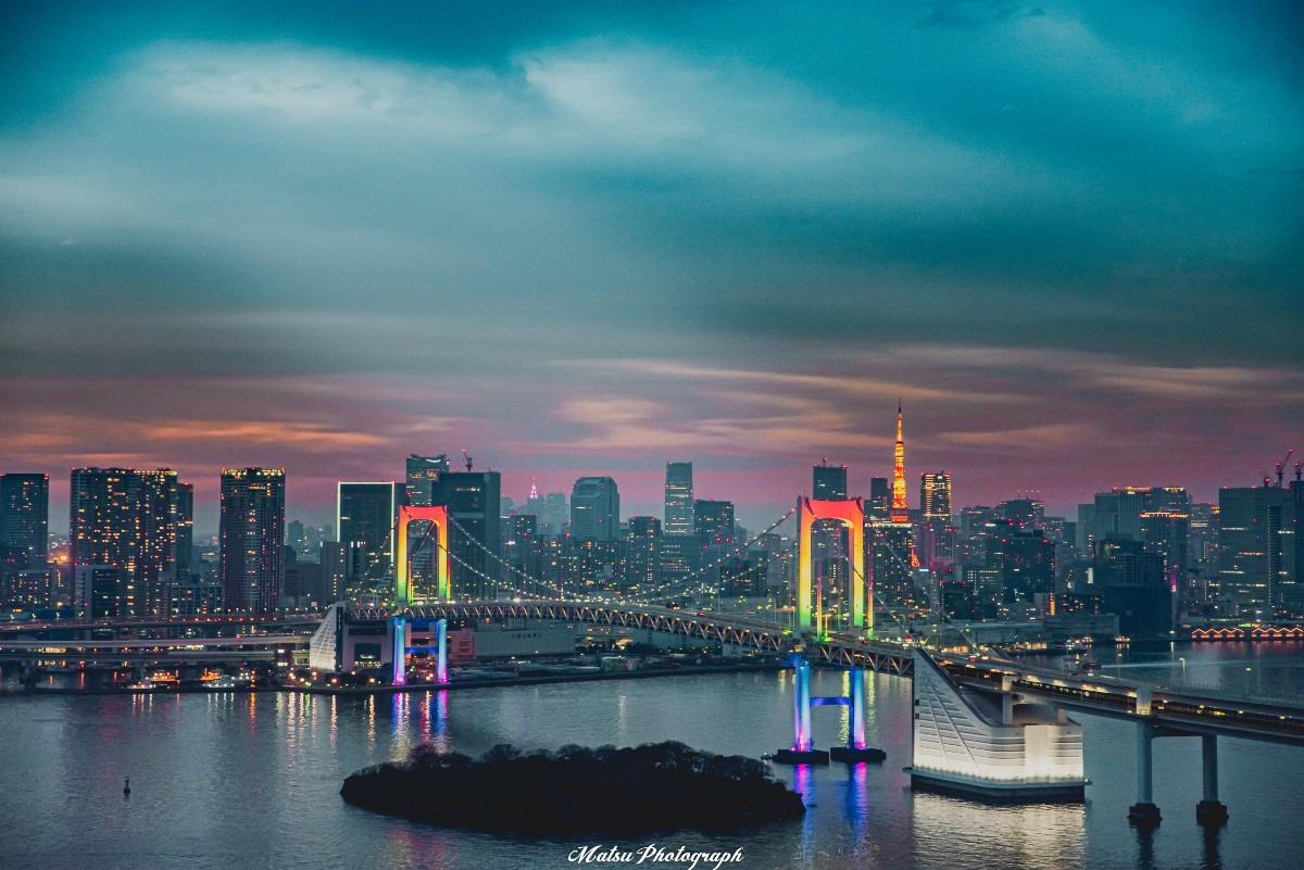 お台場から望む東京